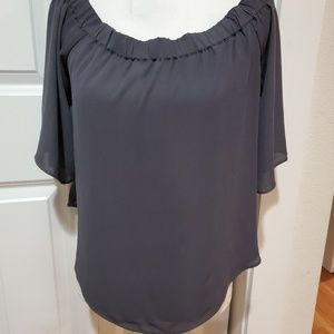 Naked Zebra Grey  Blouse Small New With  Tag